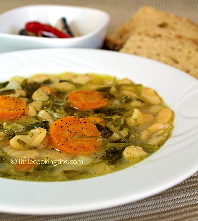 Little Cooking Tips Traditional Greek White Bean Soup - Fasolada