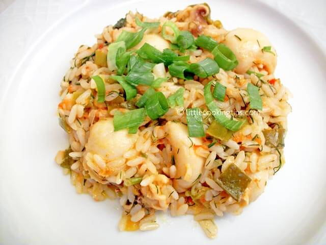 Littlecookingtips - Cuttlefish with rice
