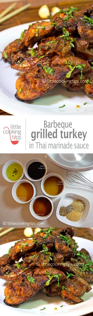 BBQ Grilled turkey in Thai marinade sauce