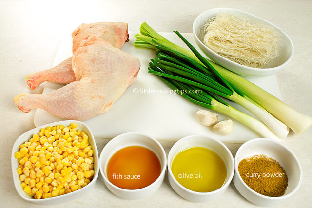 Little Cooking Tips Easy Thai Chicken Noodle Soup - ingredients