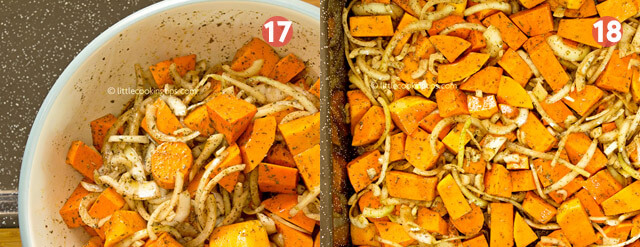 LittleCookingTips Oven Roasted Butternut Squash with Sweet potatoes