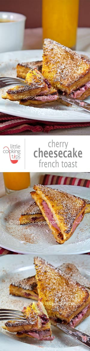 Cherry Cheesecake French Toast Sandwich
