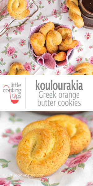 Little Cooking Tips Koulourakia Greek Orange Butter Cookies