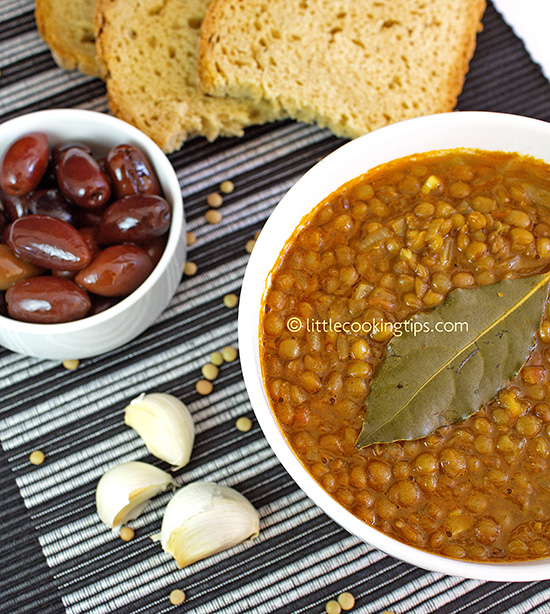 Greek Lentil Soup : Fakes