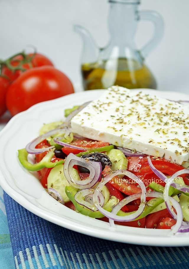 The authentic Greek Salad (Horiatiki)