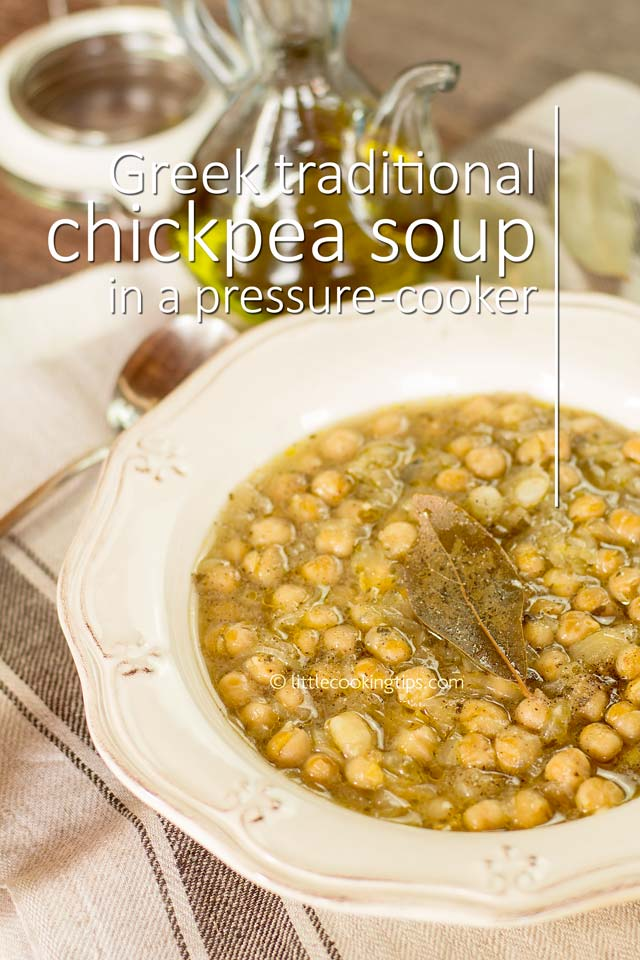 Pressure-Cooker Greek Chickpea Soup (revithosoupa)
