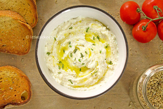 LittleCookingTips-Delicious Creamy Feta Cheese Spread