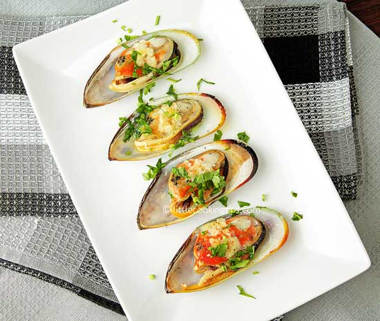 ... broiled mussels! Mussels are among the affordable seafood and are