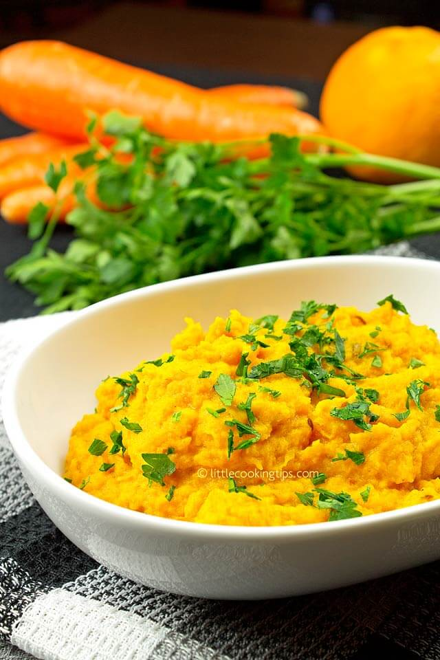 Delicious Mashed Carrots Side