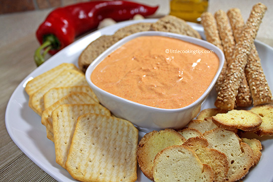 Garlicky roast pepper dip/spread