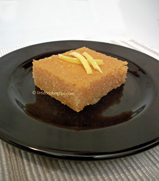 Little Cooking Tips Samali - A delicious traditional Greek dessert
