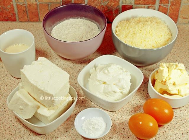 Little Cooking Tips Greek yogurt and cheese pie - ingredients