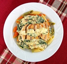 Creamy Chicken Pasta with Spinach
