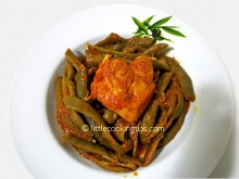 Fresh green beans with chicken : A healthy chicken recipe!