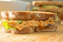 Easy, healthy avocado tuna sandwiches