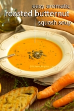 Easy to make, aromatic Roasted Butternut Squash soup