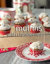 Cardamom Cinnamon Muffins with Cranberries