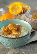 Sweet Orange-Glazed Shrimp with Cardamom