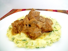 Veal with mushrooms and rosemary