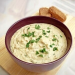 Easy delicious eggplant dip (melitzanosalata / Greek baba ghanoush)