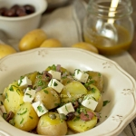 No mayo Greek style potato salad