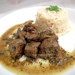 Beef liver in balsamic herbs sauce
