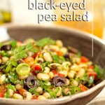 Delicious, hearty Black-eyed Pea Salad (vegan, rich and healthy)