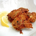 Crispy fried fish : beer battered tasty cod fish bites