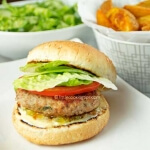 Easy, juicy Mediterranean turkey burgers!