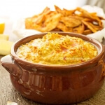 Creamy Spicy Hummus and Paprika Pita Chips