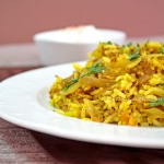 Fried rice with egg and curry