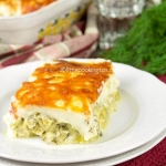Easy cheesy baked leeks in Bechamel sauce