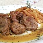 Fried Pork in a herbs and mustard sauce